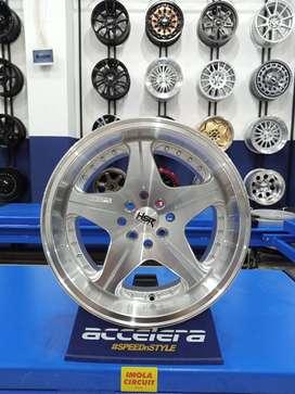 Velg mobil Soluna R16 HSR Anambas Ring 16 Lebar 7,5/8,75 silver folish
