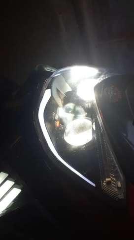 Headlamp / lampu depan + leav nmax old pajero dakar