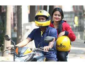 RAPIDO WANTED BIKERS FOR PICKUP DROP AND FOOD DELIVERY