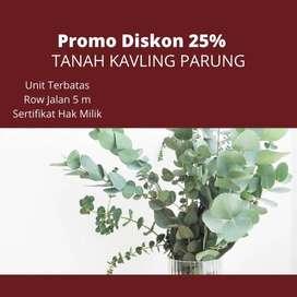 Tanah Luas 96 m2 Dekat Stasiun Bogor, Garansi Profit 30%