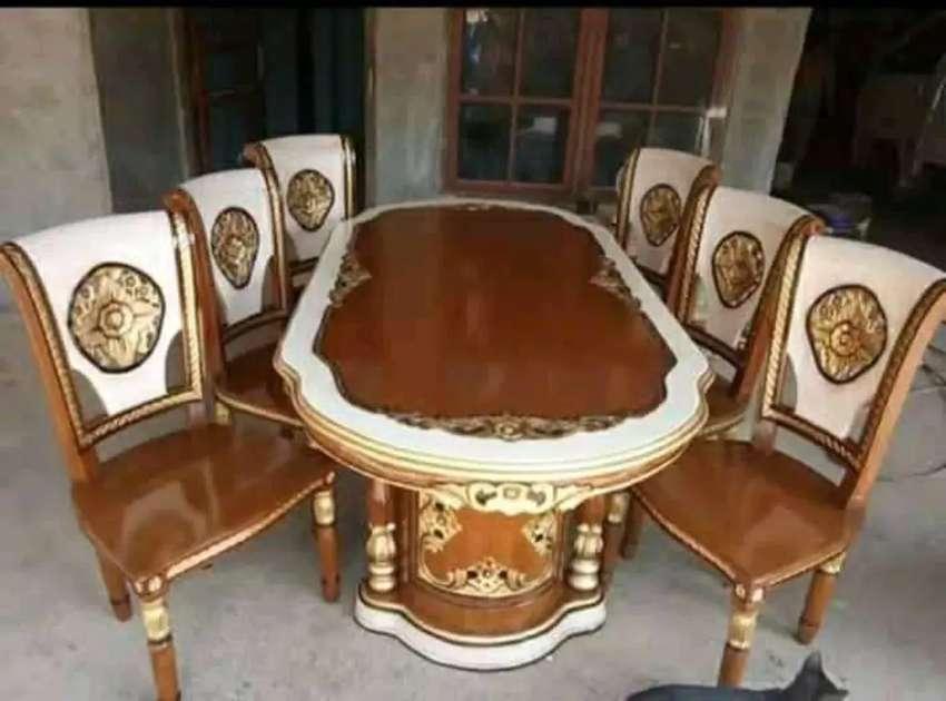 kursi makan meja model simple