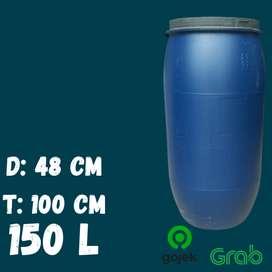 Drum Air / Tempat Sampah / Tong Plastik Tebal 150 Liter L