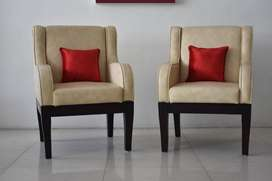 Two brand new Accent Chair (Premium Leatherette) + Cushion