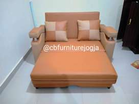 Sofa bed rekleining cover oscar, bebas pilih warna