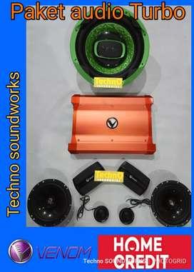 Murah Paket Venom turbo fullset cek harga paket sound for tv mobil