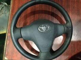 Toyota Vitz Steering Wheel with (AirBag & Blaster) for 5-10 Model