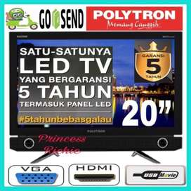 New Series LED TV 20 inch - polytron bazzoke - 4 speaker terintegrasi