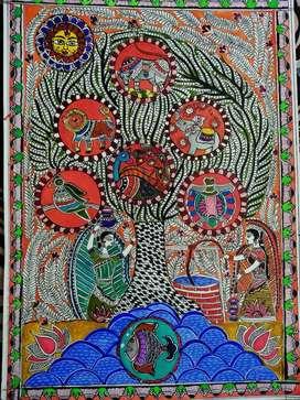 Handmade Madhubani painting