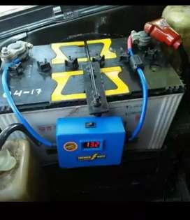 Penstabil aki stabilizer accu with voltmeter