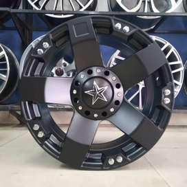 Pelak Velg Mobil Rush Ring 16 Model Hsr Rasta Warna Black