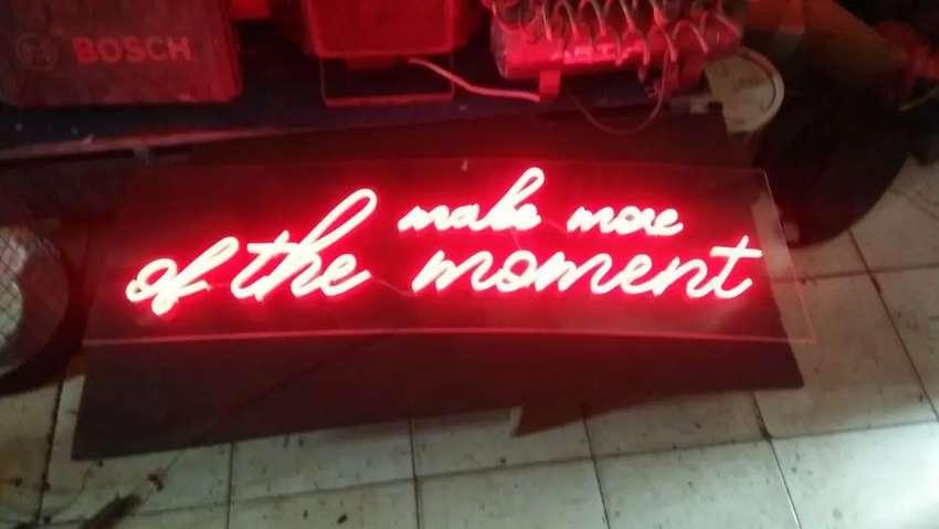 Huruf Timbul Neonbox pajak reklame videotron running text 0