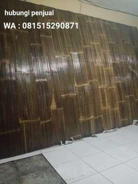 Tirai bambu coklad pekad alami