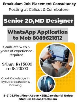Senior 2D,MD Designer