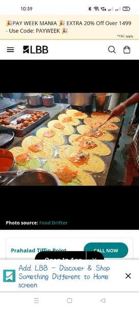Wanted Tiffin master Begum bazar dosa master fast food master