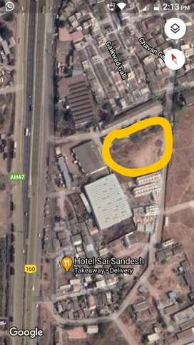 12 mtr road , plot right side row house, plot left side warehouse ,