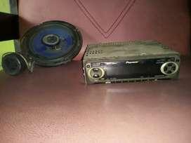 """Tape jadul Pioneer (kaset pita) dan 1buah speaker 6"""" altec"""