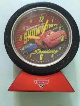 Jam Meja + Alarm Disney Cars