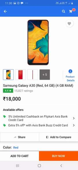 Samsung a30 exchange offer only one month old mobile