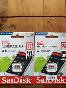 Sandisk MicroSD 32GB/98Mbps