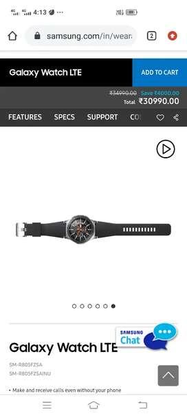Samsung Galaxy smart watch LTE