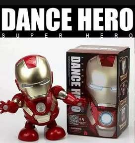 Robot dancing Super Hero