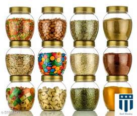 Gajanan Plastic Containers | Pack of 12 Pcs