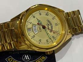 WEST END GOLD PLATED GENTS AUTOMATIC WATCH,NEW