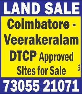 Direct Sale Only & DTCP Approved Land @ Vedapatti