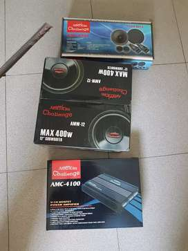 paket audio power subwoofer speaker xover tweeter
