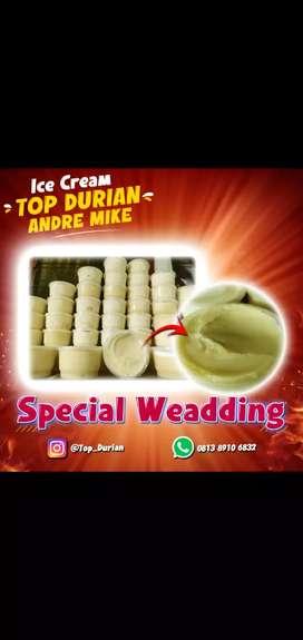 Ice cream durian cup spesialis weadding
