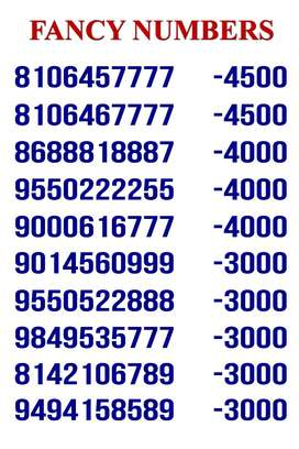 Fancy Numbers for Sale