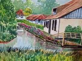 Artwork watercolor painting