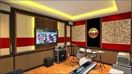partisi Peredam suara ruang akustik ruang antertainment keluarga PRO