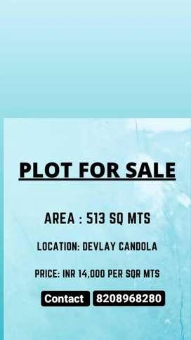 Plot for sale in khandola marcel goa (colony area)