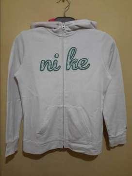 Hoodie zip Nike White