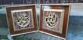 Kombinasi kaligrafi natural emas