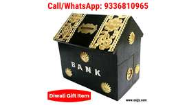 Diwali Gifted Items Beautiful Attractive Wooden Piggy Bank