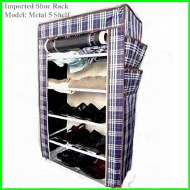Single Shoe Rack, Metal Shelves, 5 layers, Comfort what you deserved