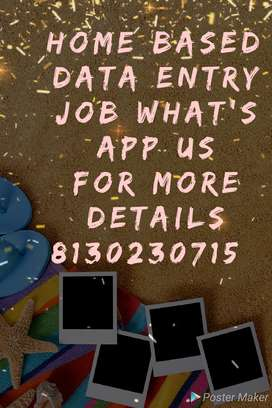 Work from home data typing job