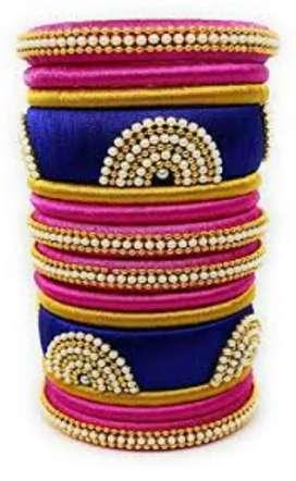 Handmade Silk Thread bangals