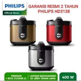 Philips Rice Cooker 2L Premiun HD3138 Garansi Resmi