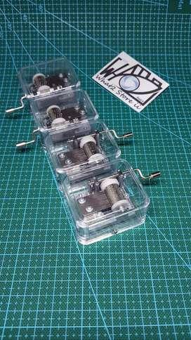 Music box kotak musik transparan