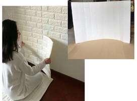 Wallpaper dinding bata-stiker/background tembok timbul 70x77cm-tebal