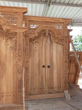 pintu gapuro gebyok free ongkir tanpa dp siap kirim ke bali amanah