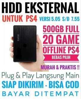 HDD 500GB Bonus 20 Game PS4 Mrh Harganya Terjangkau Bebas Pilih