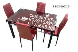 bran dnew premium look glass dining table set