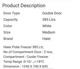Deep freezer Haier brand with fridge & a double door LG 540ltr fridge