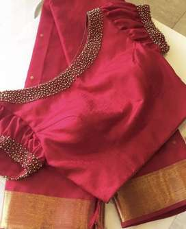 Hand work in disigner dreses