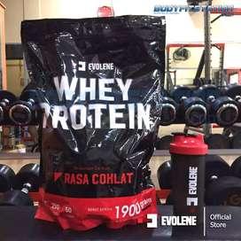 Evolene Whey Protein 50 Sachet 1900 gram 4.2 Lbs / bubuk powder suplem