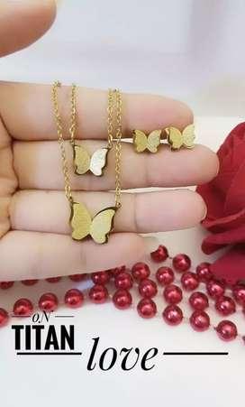 perhiasan titanium set